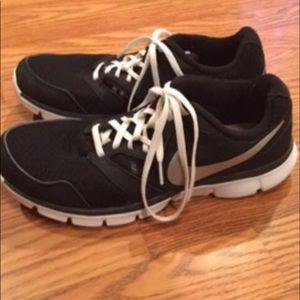 Ladies Black Nike Athletic Shoes